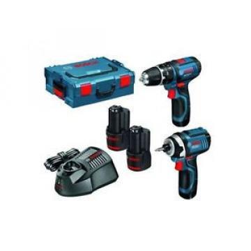Bosch  06019B697F 10.8V Combi Drill + Impact Driver Twinpack (2 x 2.0 Ah Batt)