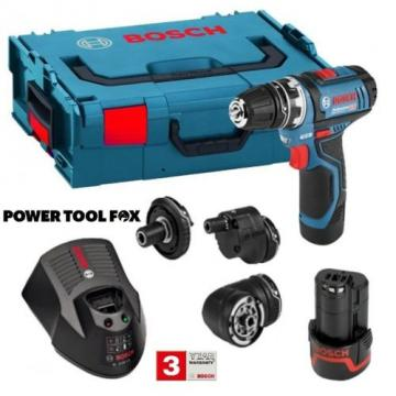new - Bosch GSR 12V-15 FC Combination KIT / SET - 06019F6070 3165140847728