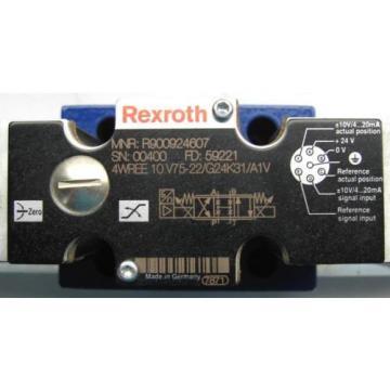 Rexroth Japan France 4WREE10V75-22/G24K31/A1V Proportional Valve R900924607 Rebuilt w/Warr'ty