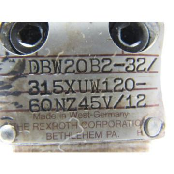 Rexroth Egypt Canada DBW20B2-32/315XUW120-60NZ45V/12 Pilot Operated Pressure Relief Valve