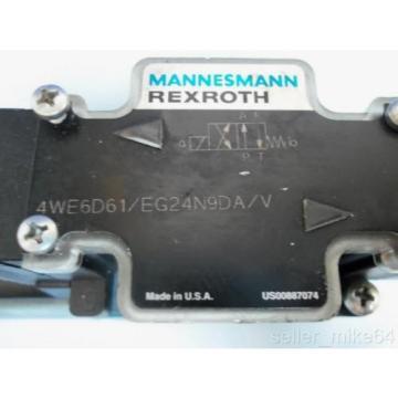 MANNESMANN Germany France REXROTH 4WE6D61/EG24N9DA/V 24 VDC HYDRAULIC VALVE