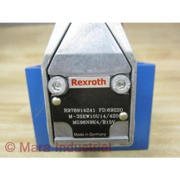 Rexroth Germany Italy Bosch R978914241 Valve M-3SEW10U14/420MG96N9K4/B15V - New No Box