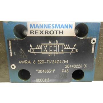 MANNESMANN Italy Mexico REXROTH, HYDRAULIC VALVE, 4WRA 6 E20-11/24Z4/M