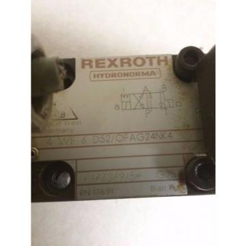 REXROTH China Canada VALVE_4 WE 6 D52/OFAG24NK4