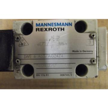MANNESMANN China Korea REXROTH Ventilmagnet  3WE 6 A53/AG24Z4