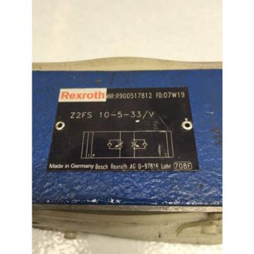 Rexroth India Japan Z2FS-10-5-33/V D05 Hydraulic Dual Flow Valve (B49)