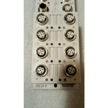 REXROTH USA Singapore  RF-FLS PB M12 DI 8 M12, MPN R911294587   **NEW**