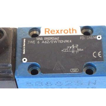 NEW USA Korea REXROTH 3WE-6-A62 / EW110N9K4 VALVE R900905662 3WE6A62EW110N9K4