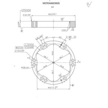 REXROTH Japan Russia NEW REPLACEMENT CAM/STATOR RING MCR05A660-360  WHEEL/DRIVE MOTOR