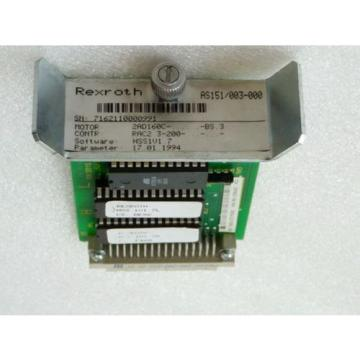 Rexroth Greece France Indramat AS151/003-000 Einschubmodul SN 7162110000991 Software HSS1V1 7