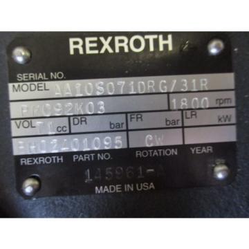 NEW REXROTH HYDRAULIC PUMP AA10S071DRG/31 BH02401095