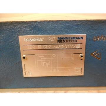 Mannesmann Japan Korea Rexroth Hydraulic Valve ZDR 10 DP2-53/210YM ZDR10DP253210YM New