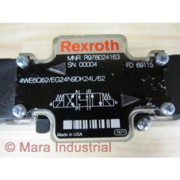 Rexroth Japan Egypt Bosch R978024163 Valve 4WE6Q62/EG24N9DK24L/62 - New No Box