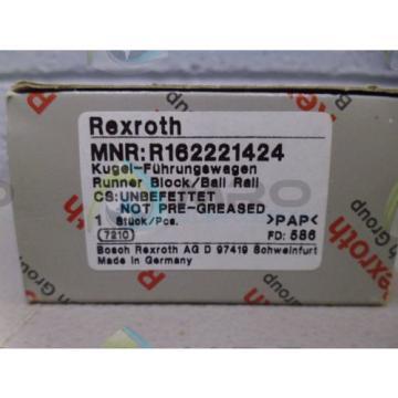 REXROTH Japan Germany R162221424 RUNNER BLOCK *NEW IN BOX*