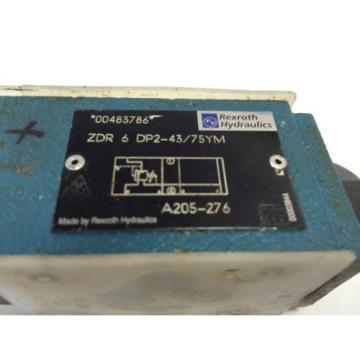 NEW China Canada REXROTH HYDRAULIC ZDR 6 DP2-43/75YM   A205-276, 00483786 VALVE   GB