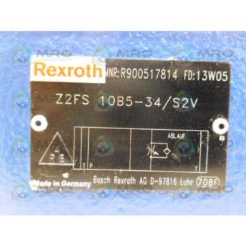 REXROTH Mexico Mexico Z2FS10B5-34/S2V DOUBLE THROTTLE CHECK VALVE *NEW NO BOX*