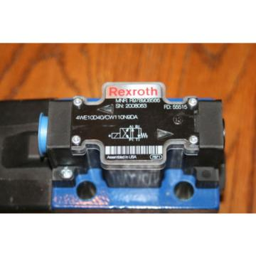 Rexroth Canada Canada Bosch Group MNR R978908566 Solenoid Valve 4WE10DA40/CW110N9DA  NEW
