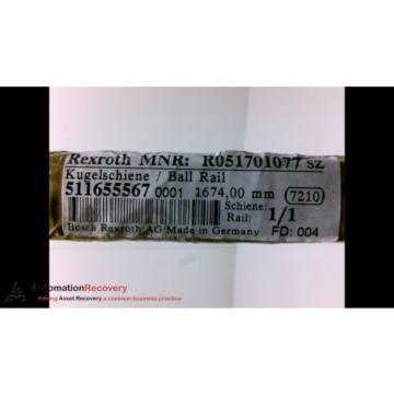 REXROTH Germany Korea R051701077 BALL RAIL, 1674MM LENGTH 20MM OVERALL WIDTH, NEW