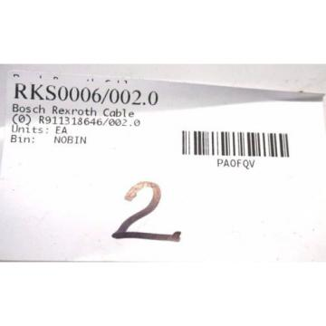 NEW Singapore Singapore BOSCH REXROTH RKS0006 / 002.0 CABLE R911318646/002.0 RKS00060020