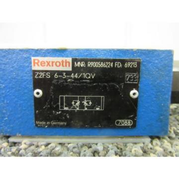 REXROTH Australia Japan BOSCH SANDWICH THROTTLE CHECK VALVE Z2FS R900586224 KEYED FLOW NEW
