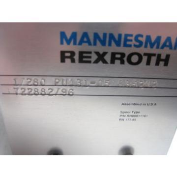 MANNESMANN Australia Mexico REXROTH 1/280 PUA13-05 835242   722882/95