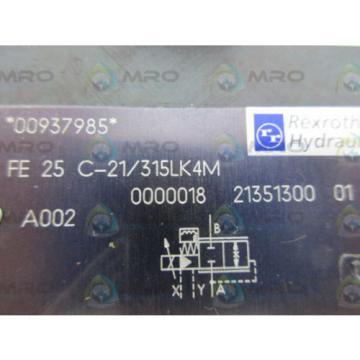 REXROTH France Canada FE25C-21/315LK43 FLOW CONTROL VALVE *NEW NO BOX*