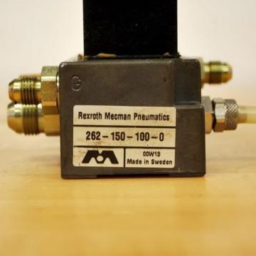 Rexroth China Dutch 2611-0-9110-1 Pneumatic Valve, 24 VDC 2W Coil, Valve & Block - USED