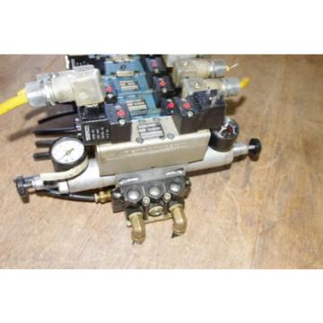 Rexroth Singapore Singapore Ceram 6-Valve Air Control Manifold Assembly w/ Regulators *FREE SHIP*