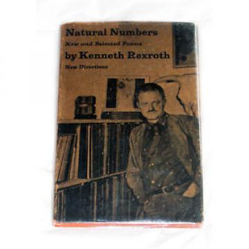 NATURAL Korea Canada NUMBERS New Selected Poems KENNETH REXROTH 1963 hardcover OOP Directions