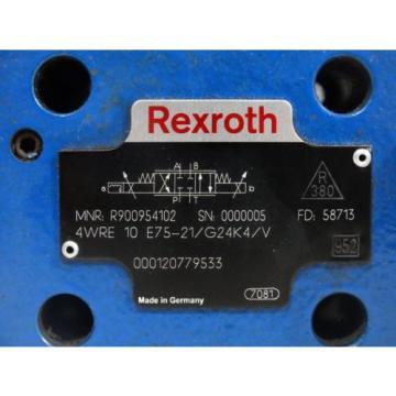 Rexroth France France R900954102 Proportional valve 4WRE10E75-21/G24K4/V