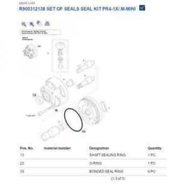Bosch Germany USA Rexroth Seal Kit R900312138 Set of Seals PR4-1X/.M-MINI