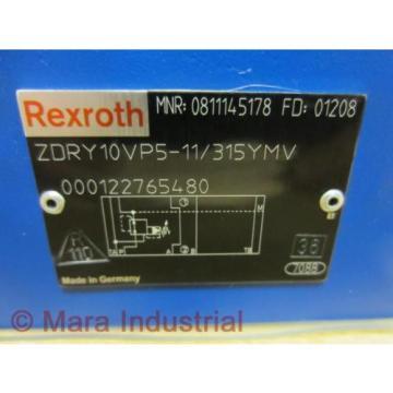Rexroth India Singapore Bosch 0811145178 Valve ZDRY10VP5-11/315YMV - New No Box