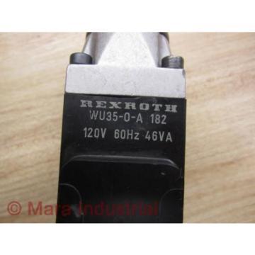 Rexroth Korea Australia WU35-0-A-182 Solenoid Valve - Used