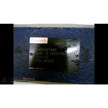 REXROTH Canada India R900587492 ZDR 10 DA2-54/75Y/12 HIGH PRESSURE REDUCING VALVE, NE #166928