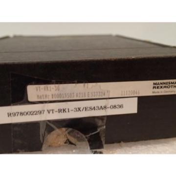 WARRANTY Russia France REXROTH RK1S 3X VT-RK1-30 3X ES43A8-0836 RELAY AMPLIFIER CARD