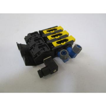 LOT Germany Australia OF 3 REXROTH MANIFOLD 8985003722 W/ END CAP 8941013312 *NEW OUT OF BOX*