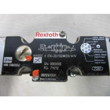 Rexroth Dutch Australia 4WREE 6 E16-22/G24K31/A1V -used-