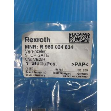 NEW France Greece REXROTH R 980 024 834 STOP GATE VE2/H (A9)