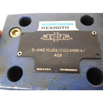 REXROTH Korea Italy 5-4WE10J33/CG24N9K4/A08 HYDRAULIC VALVE RR00009279 *NEW NO BOX*