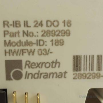 Rexroth USA Dutch Inline Digital-Ausgabeklemme R-IB IL 24 DO 16 OVP