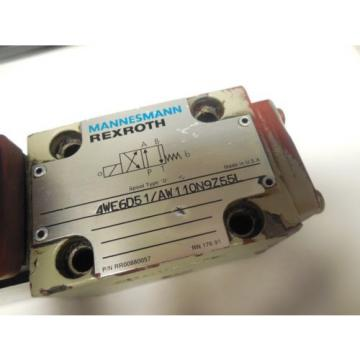 REXROTH Mexico Greece SOLENOID VALVE 4WE6D51/AW110N9Z55L w/ WU35-4-A 304