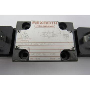 REXROTH Canada Korea 4 WE 6 D52/OFAG24NZ4 24V DC 26W VALVE