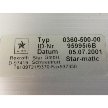 REXROTH India USA (Star Linearmodul) /  Typ : 0360-500-00
