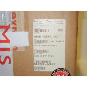 REXROTH Egypt Italy INDRAMAT R911280732 REMAN. BTA20.2-NB-HP-VB-BS PANEL R911280732