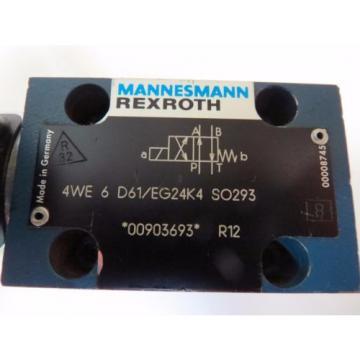 Mannesmann India Russia Rexroth 4WE 6 D61/EG24K4 SO293 Hydraulic Directional Valve 350bar