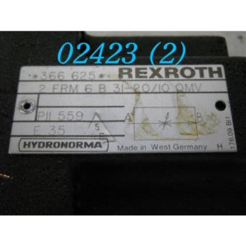 REXROTH Singapore china STROMREGELVENTIL 2 FRM 6 B 31-20/10 QMV
