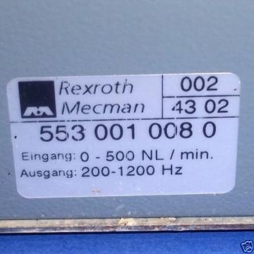 REXROTH Singapore Mexico MECMAN 0-500 NL/MIN. 200-1200HZ AIR VOLUME SENSOR, 553-001-008-0