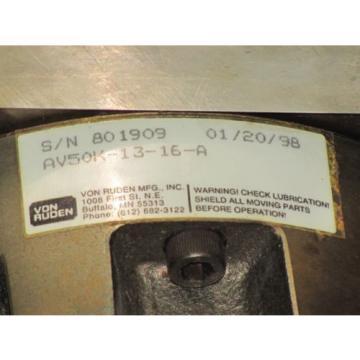 VON RUDEN HYDRAULIC MOTOR No. AV50K-13-16-A