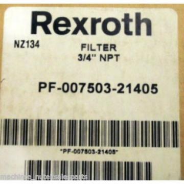 """NEW Australia Canada in Box Rexroth Filter 3/4"""" NPT PF-007503-21405 _ PF00750321405 _ NZ134"""