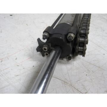 "Rexroth India Korea 1622-81X-10 2 Rail Runner Liner Bearing Blocks W/72-1-/2"" Rail Lot of 2"